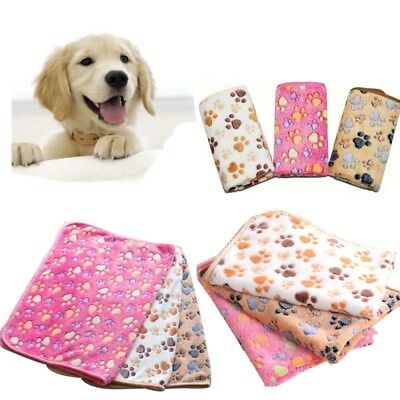 Pet Fleece Blanket Bed Mat Pad Cover Cushion Soft Warm For Dog Cat Puppy Animal