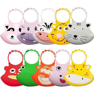 Infant food grade silicone material waterproof and easy to dry animal bib