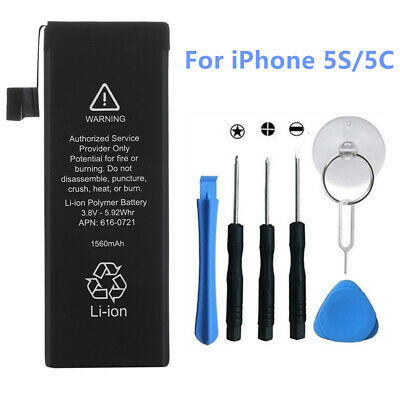 1560mAh Li-ion Replacement Internal Battery Cell for iPhone 5s Apple