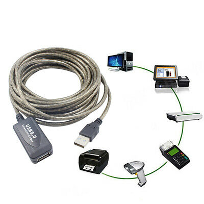 5/10/15/20m USB 2.0 Active Repeater Cable Signal Booster Extension Cord Sweet