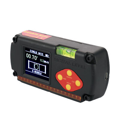 LCD Display Dual-axis Angle Ruler USB Cable Digital Level Inclinometer Sweet