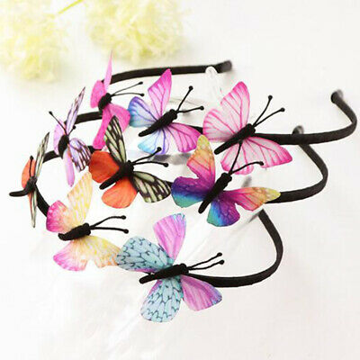 Girls Kids Butterfly Headband Party Hair Accessories Fairy Princess Hairband New