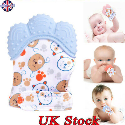 Baby Silicone Mitts Teething Glove Teething Mitten Candy Wrapper Soft Teether UK