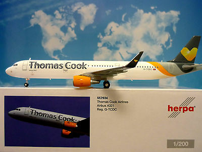 Herpa Wings 1:200 Airbus A321 Thomas Cook Airlines G-TCDC  557634