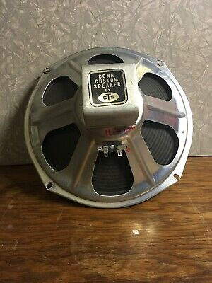 "VINTAGE Conn CTS 12"" ALNICO INSTRUMENT  SPEAKER ribbed cone 1973 manufacture"