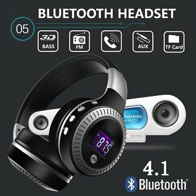 UK Bluetooth Wireless Earphones with Noise Cancelling Over-Ear Stereo Headphones