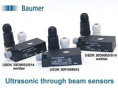 ⭐Baumer UEDK 30P/508052 and USDK 30D9003/S14 Ultrasonic through beam sensors⭐