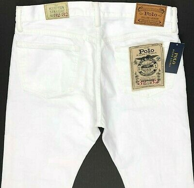 Polo Ralph Lauren Hampton Straight White Jeans Men's 31, 32, 33  Ni2-2