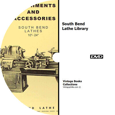 * SOUTH BEND LATHE COLLECTION LIBRARY * 89 MANUALS on DVD * REPAIRS PARTS LIST