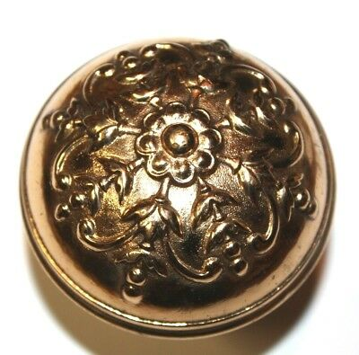 "Antique Victorian Single Solid Brass Door Knob Ornate 2 1/4""    JJ"
