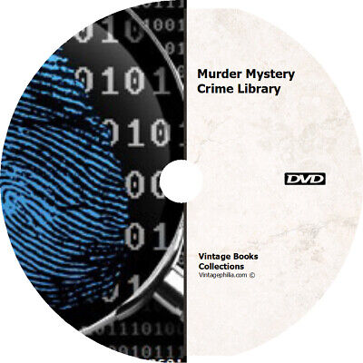 * MURDER MYSTERY CRIME STORIES DETECTIVE * 300+ RARE ANCIENT BOOKS on DVD *