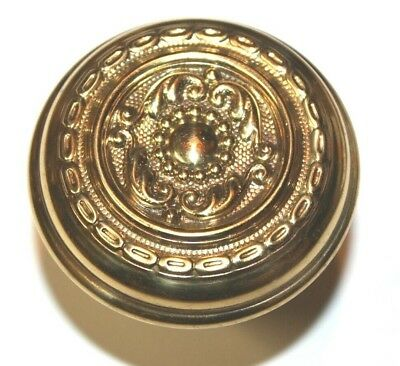 "Antique Victorian Single Solid Brass Door Knob Ornate 2 1/4""    FF"