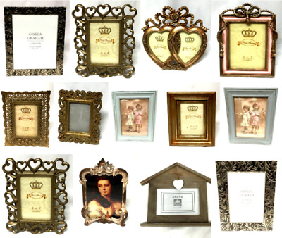 Vintage Style Large Metal Wooden Photo Frames Picture Frame Home Decoration