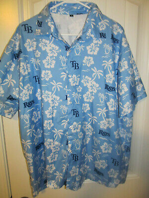 Tampa Bay Rays Hawaiian Shirt - Adult Medium