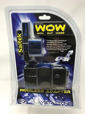 Saitek WOW With Out Wires Wireless Adapter For Playstation 2 New