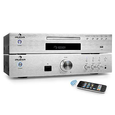 2.0 HiFi Set MP3 CD Player Stereo Verstärker 600W Bluetooth USB UKW Radio Tuner