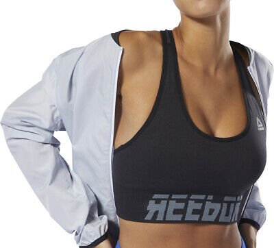 Reebok WOR Meet You There Seamless Padded Womens Sports Bra - Black