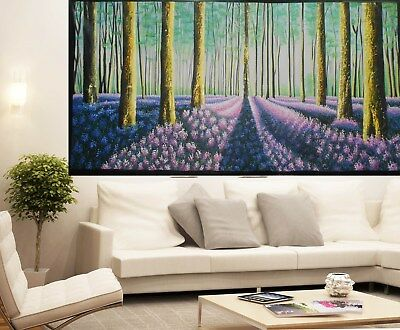 art oil painting landscape canvas tree forest woods aboriginal  artwork large