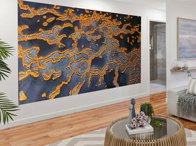 3000mm Huge Barrier Reef abstract Painting landscape art  Australia aboriginal