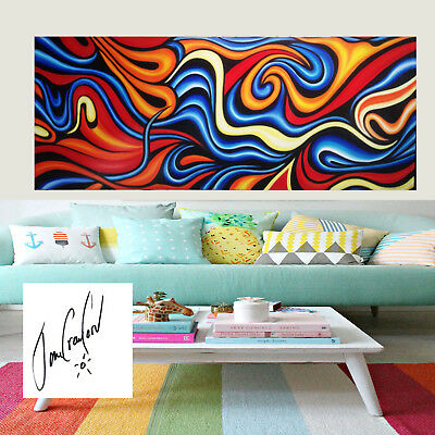 Modern Original Art Oil Painting Abstract Signed Dream by Australia painted