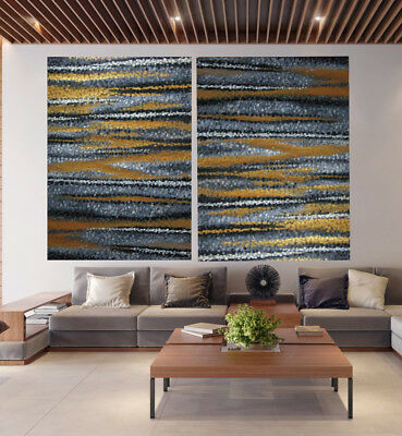 Diptych Pinnacles Gold abstract Painting landscape art Australia COA aboriginal