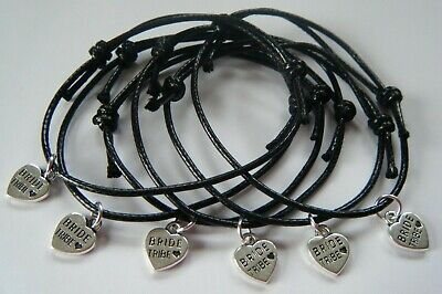 Hen Party Bride Tribe 1, 3 Or 6 Bracelets Favors Gifts *Choose Your Colours*