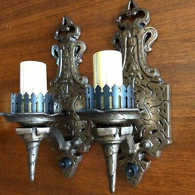 Pair of Vintage Arts & Crafts / Mission Style 1-light Sconces -  Ready to Use!