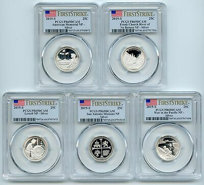 2019 S Silver Quarter Set .999 Silver Whitman Expo Releases NGC PF69 U.C.