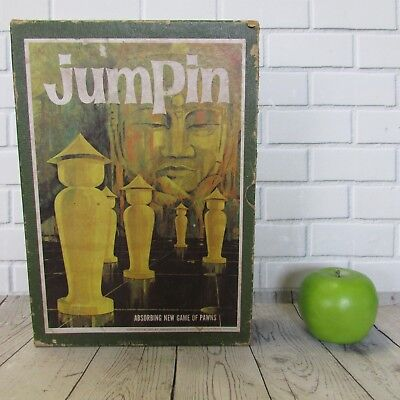 "Vintage 1964 3M Bookshelf Game ""Jumpin"" 24 Metal Pawns Minnesota Mining & Mfg"