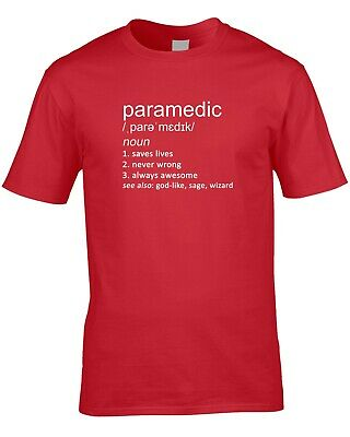 8433c244 Paramedic Funny Definition Mens T-Shirt Gift Idea Ambulance Emergency  Services
