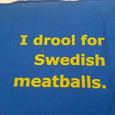 IKEA Handkercheif Napkin Centennial I Drool For Swedish Meatballs RARE Bandana