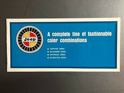 1967 Jeep Color Chart Showroom Advertising Sales Brochure RARE!! Awesome L@@K