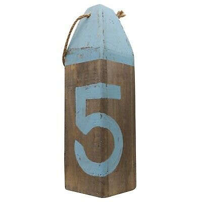 Wooden buoy boat maritime nautical science decoration antique style b 40cm