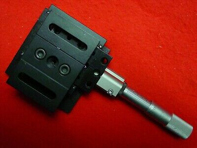 "THORLAB Linear Stage Positioner with Micrometer  3"" x 3"" Platform 1/4-20 Tp"