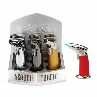 Scorch Torch 45 Degree Table Torch Jet Flame Butane Cigarette Cigar Lighter NEW