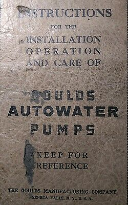 Gould's Autowater Pumps Owner, Parts & Service Repair Manual Irrigation Water