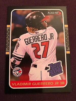 100 Card Lot - Vlad Vladimir Guerrero Jr 1987 Donruss Style Rated Rookie 2018