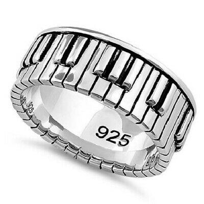 European 925Sterling  Silver Solid Silver Bamboo Unisex Cuff Bracelet GB095