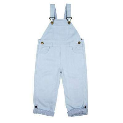 Dotty Dungarees Pale Light Blue Pinstripe Dungarees Brand New RRP £39.50