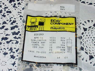 Sylvania ECG 234 Transistor PNP-Si  ECG Component NEW SEALED PACKAGE!