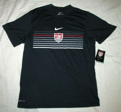 3c73ec37cfe NIKE USA SOCCER National Team Dri-FIT Mens Shirt M Navy - $13.49 ...
