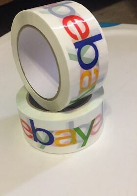"""2"""" x 75 yards Classic-Official eBay Branded Packaging Tape (2 rolls)(SHIPS FREE)"""
