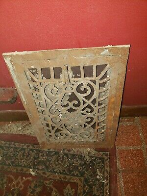 Antique Victorian Grate With Single Louver 14x10
