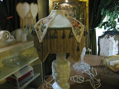 Victorian French Med Princess Lamp Shade + Aladdin Celery lamp! Beautiful! !