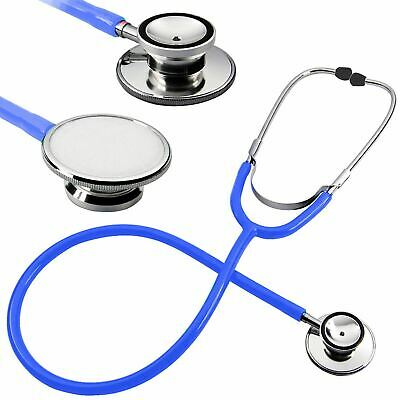 Pro Medical EMT Dual Head Stethoscope For Nurse Doctor Vet Student Health Blue