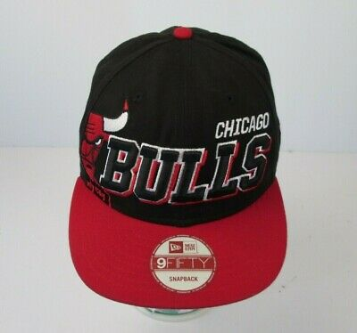 ad8b4fc6d6c7f BLACK CHICAGO BULLS NBA Team Logo 1966 Embroidered Baseball Hat Cap ...