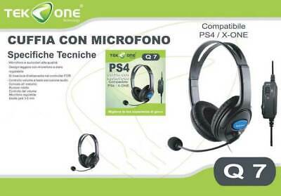 Cuffie Gaming per CONTROLLER WIRELESS XBOX ONE con Controllo Volume e Microfono