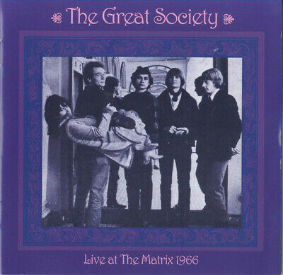 The Great Society - Live At The Matrix 1966 (2018)  CD  NEW/SEALED  SPEEDYPOST