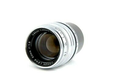 [EXC++++] Canon 50mm f/1.8 Leica Screw Mount LTM Lens w/ Hood from Japan
