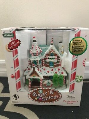 Lemax Sugar N Spice The Cinnamon's Manor Brand New Nrfb #55270 Christmas Display